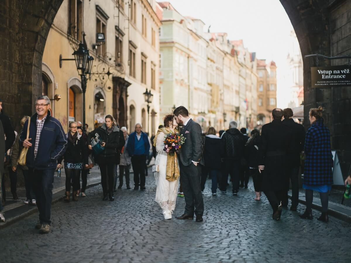 Alex and Jenni Prague wedding photographer destination photography henry lowther europe czech republic abroad UK documentary city old town square charles bridge