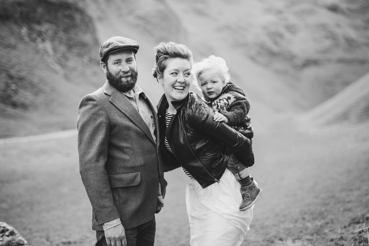 Mark and Hayley Peak District Couples family shoot engagement Lincolnshire wedding photographer