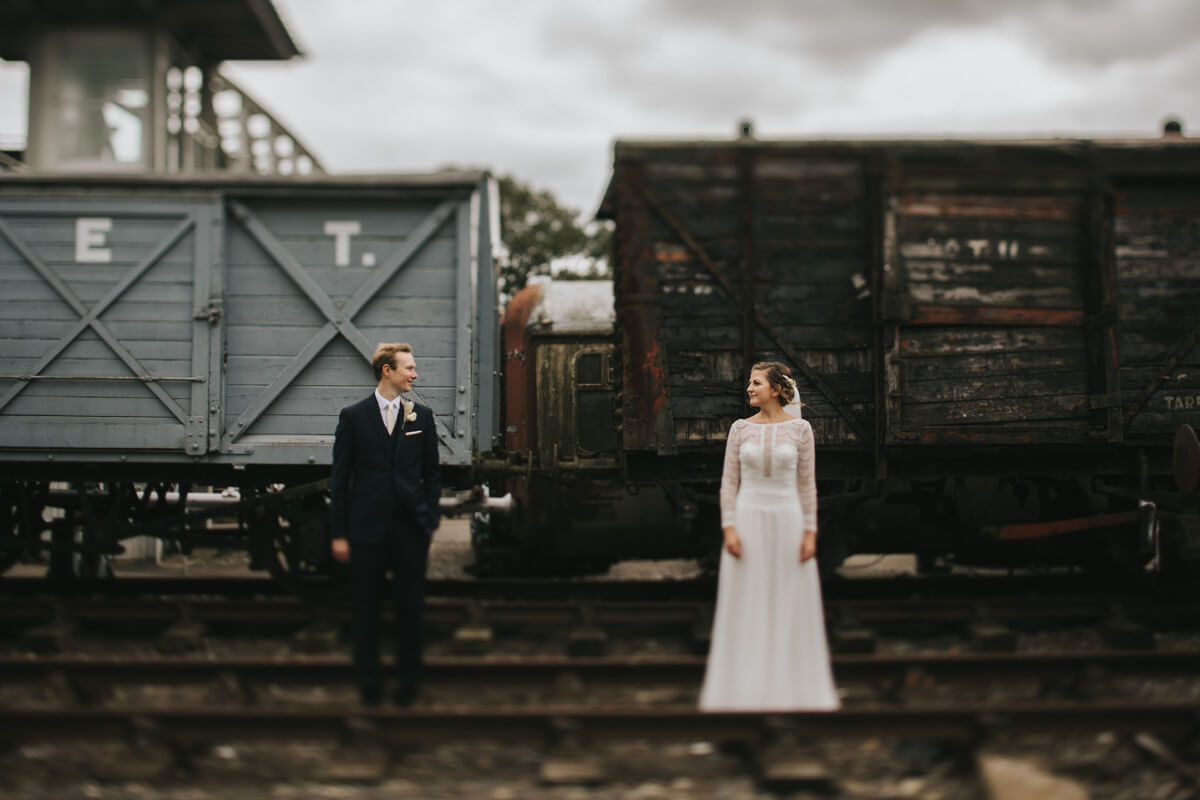 Buckinghamshire railway wedding photography Aylesbury wedding photographer