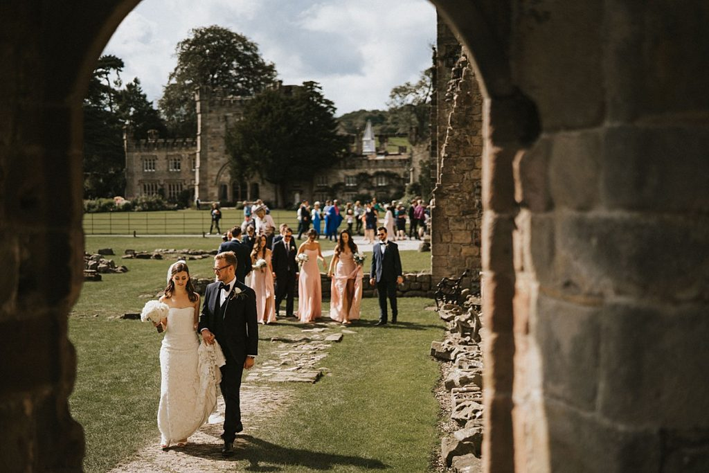 Tithe Barn Bolton Abbey wedding Yorkshire wedding photography
