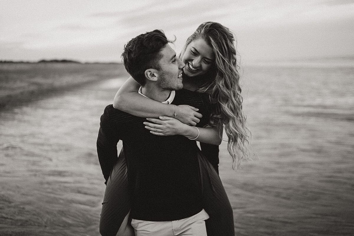 Beach couples session Cleethorpes wedding